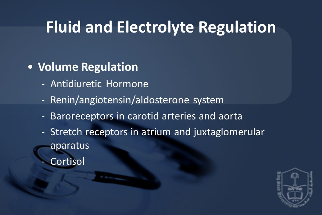 Fluid and Electrolyte Regulation