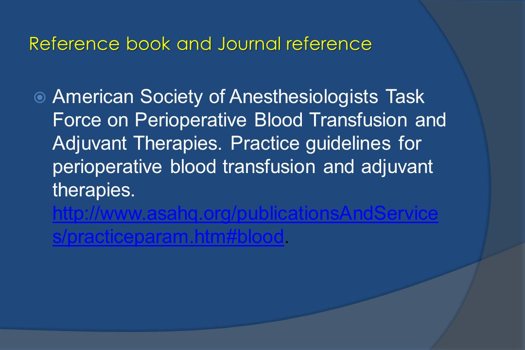 Reference book and Journal reference