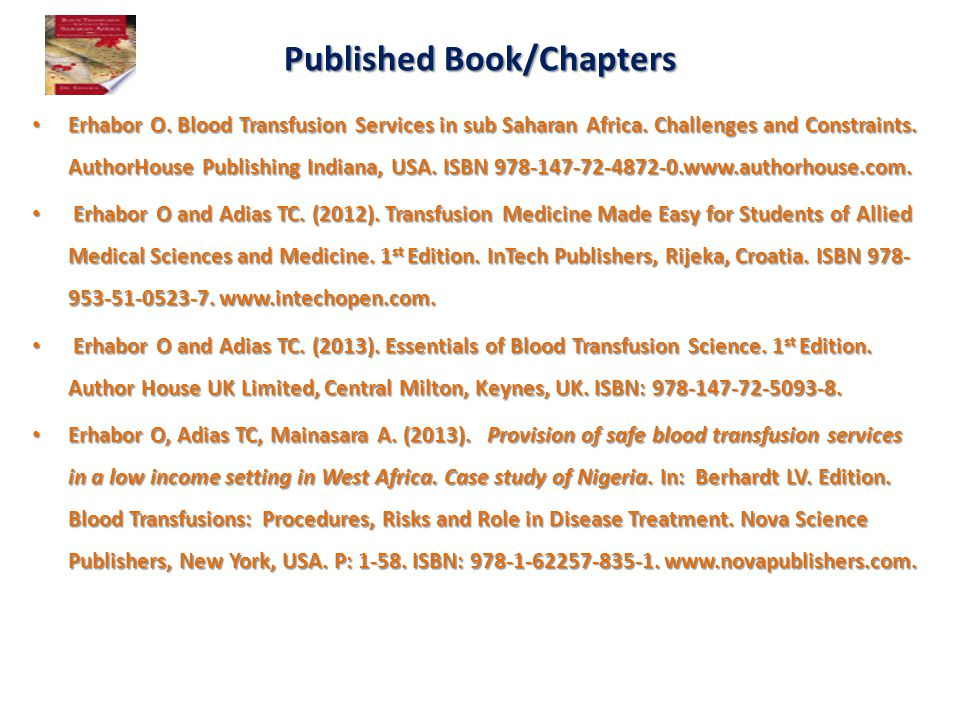 Published Book/Chapters