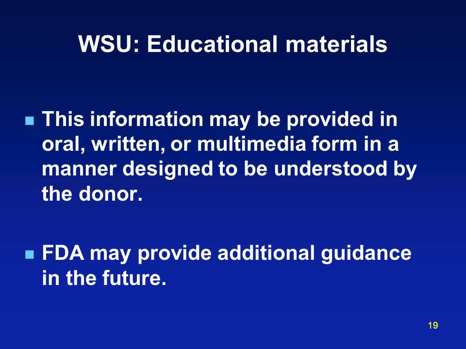 WSU: Educational materials