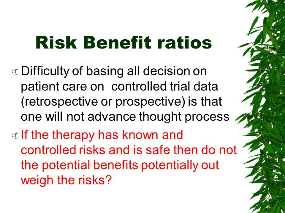 Risk Benefit ratios