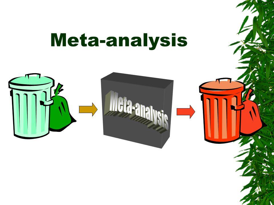 Meta-analysis Meta-analysis
