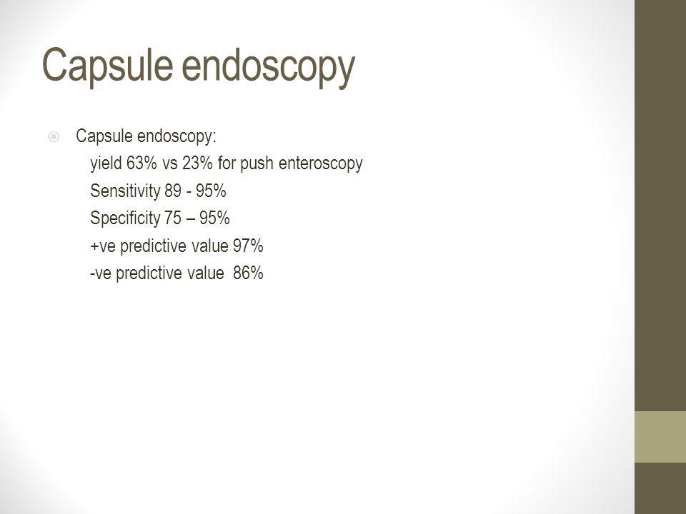 Capsule endoscopy Capsule endoscopy: