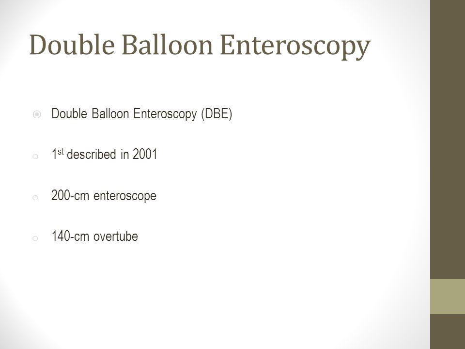 Double Balloon Enteroscopy