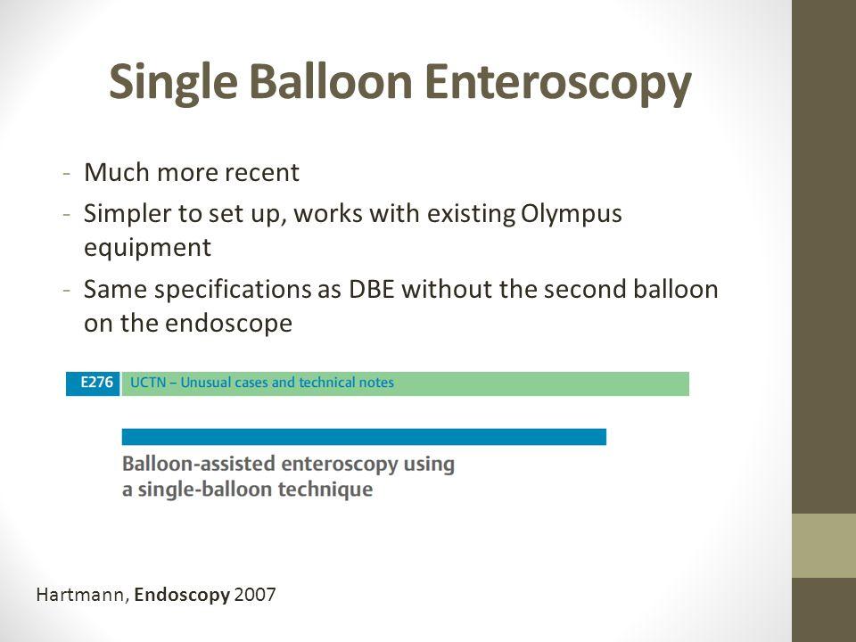 Single Balloon Enteroscopy