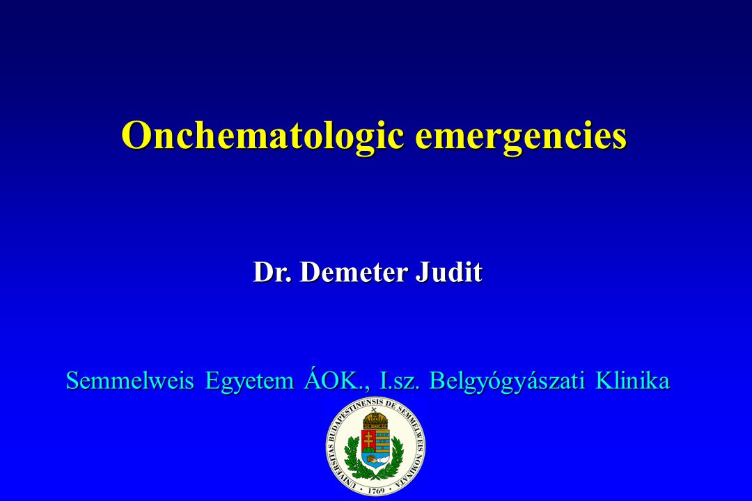 Onchematologic emergencies