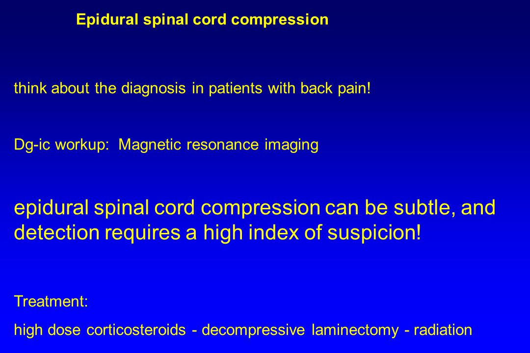 Epidural spinal cord compression
