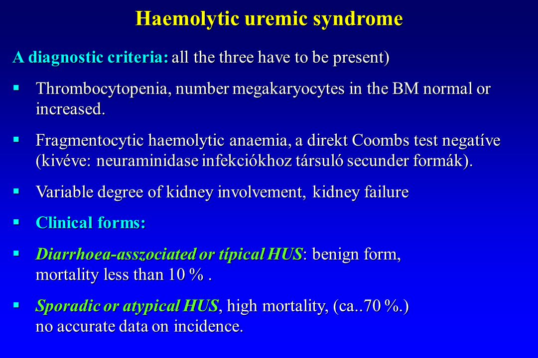 Haemolytic uremic syndrome