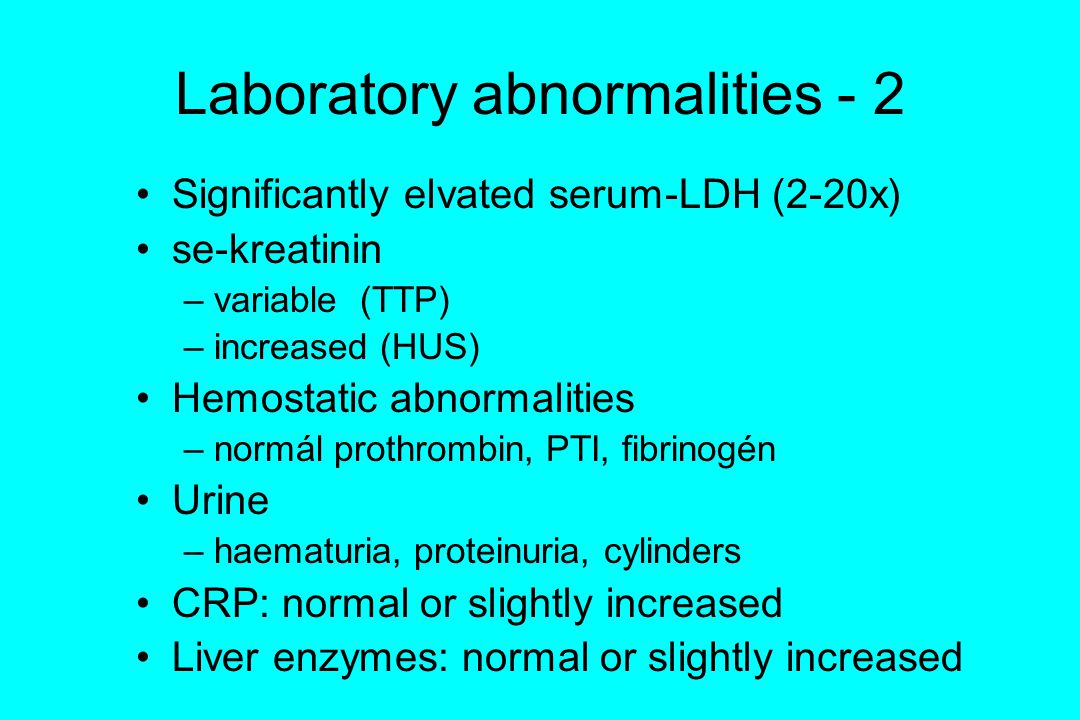 Laboratory abnormalities - 2