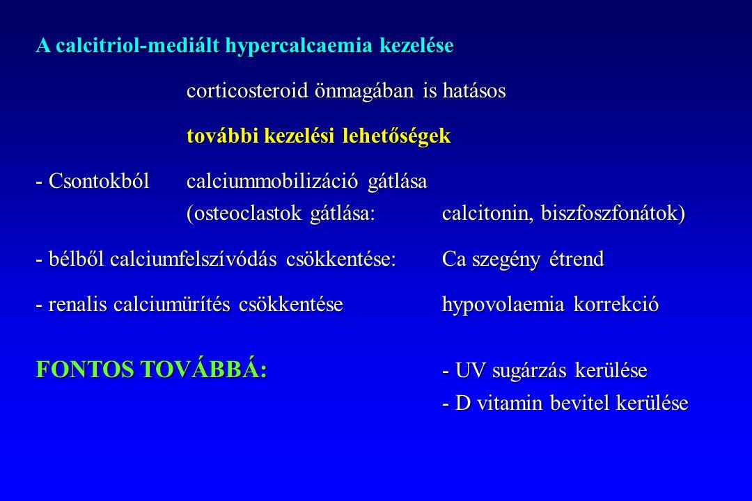 A calcitriol-mediált hypercalcaemia kezelése