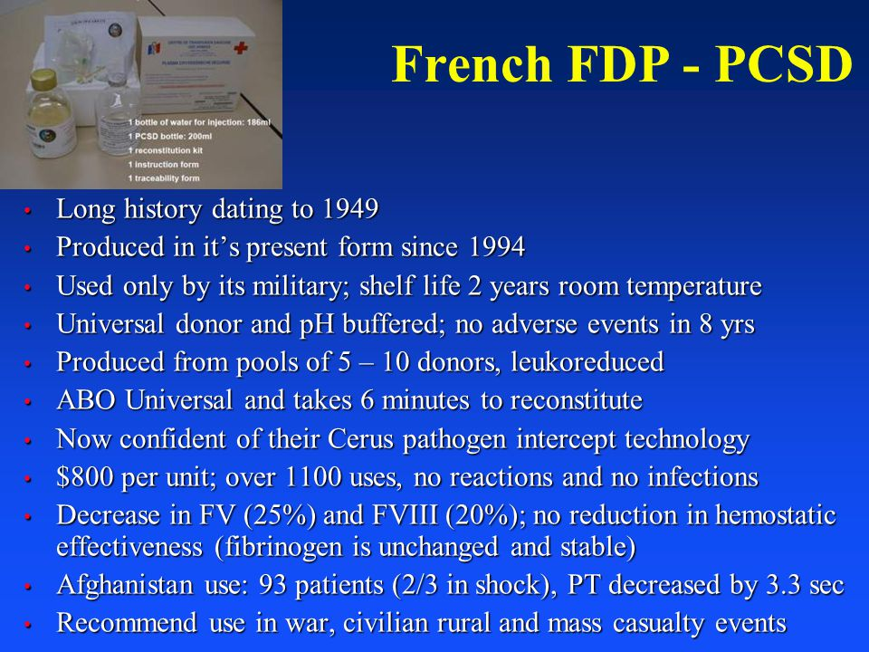 French FDP - PCSD Long history dating to 1949