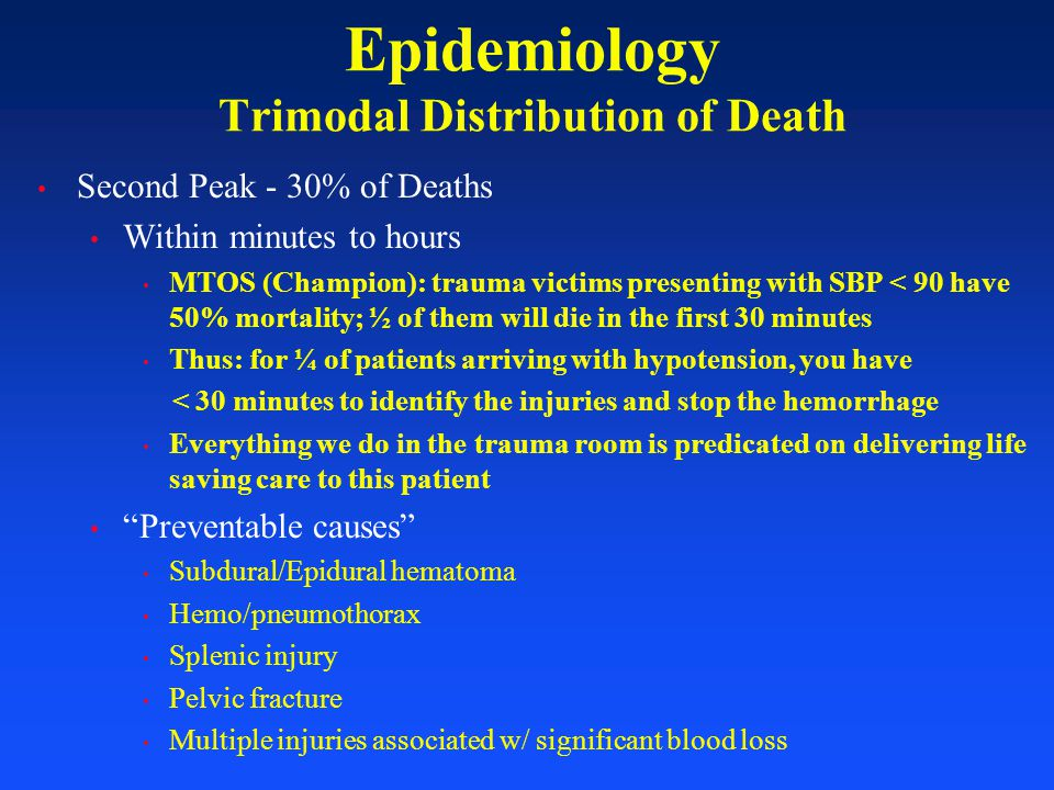 Epidemiology Trimodal Distribution of Death