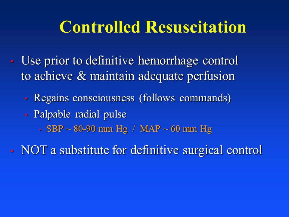 Controlled Resuscitation