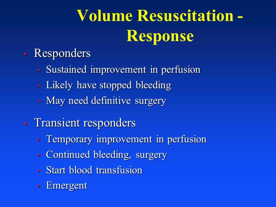 Volume Resuscitation - Response