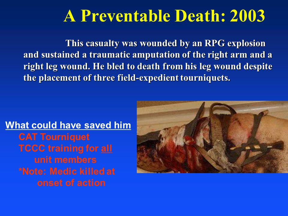 A Preventable Death: 2003