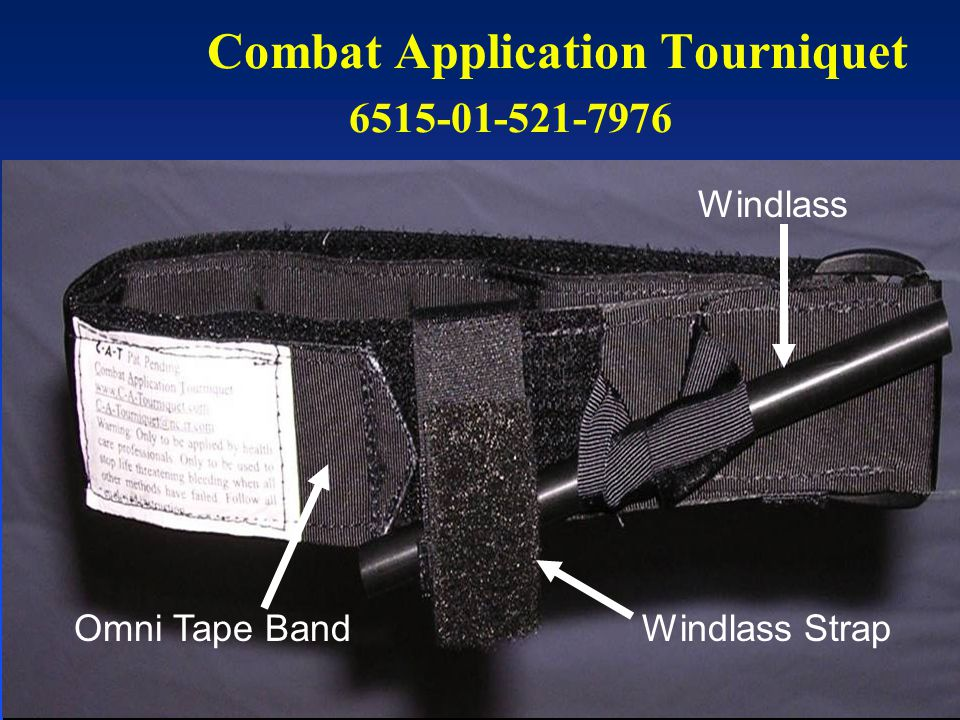 Combat Application Tourniquet 6515-01-521-7976