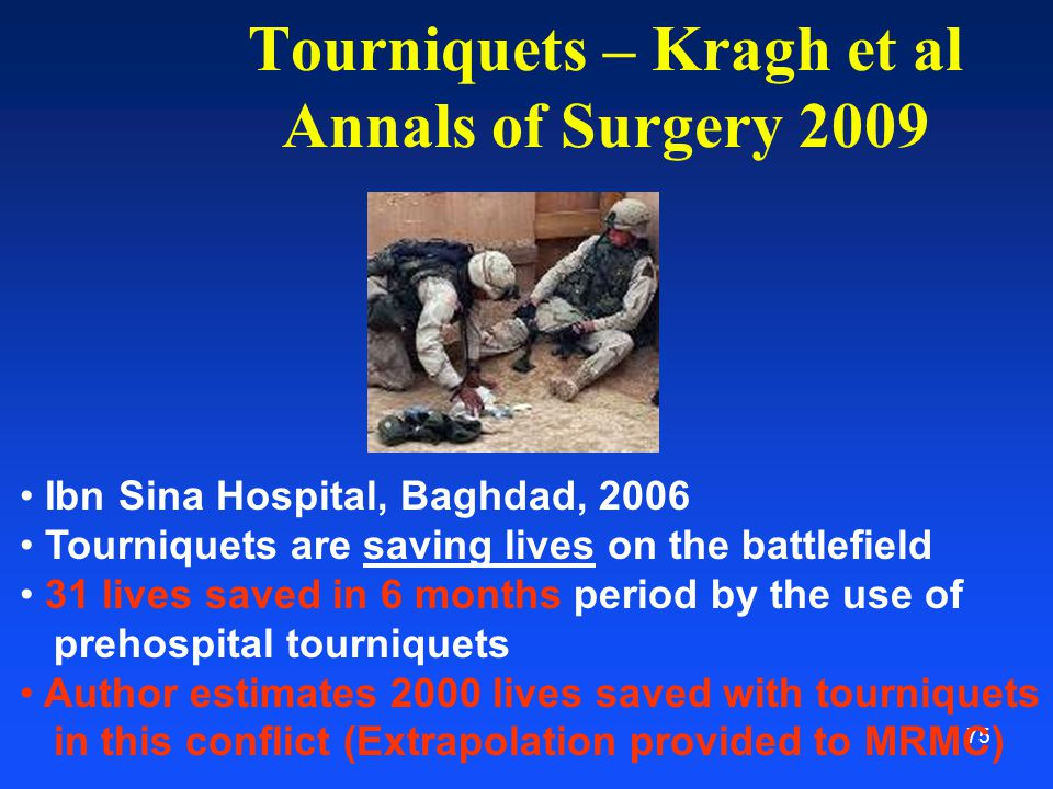 Tourniquets – Kragh et al Annals of Surgery 2009