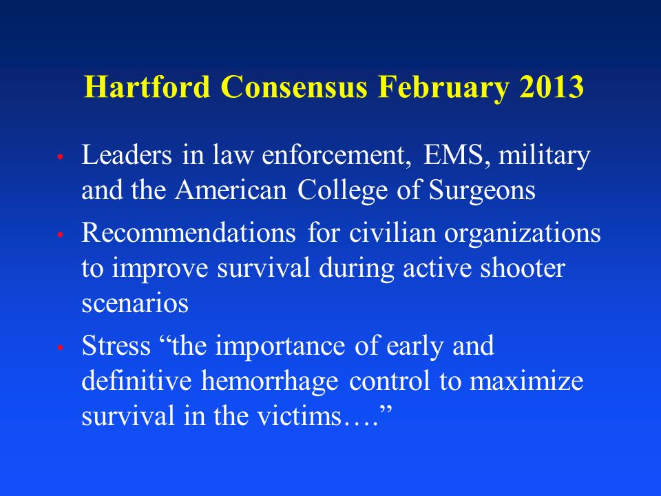 Hartford Consensus February 2013