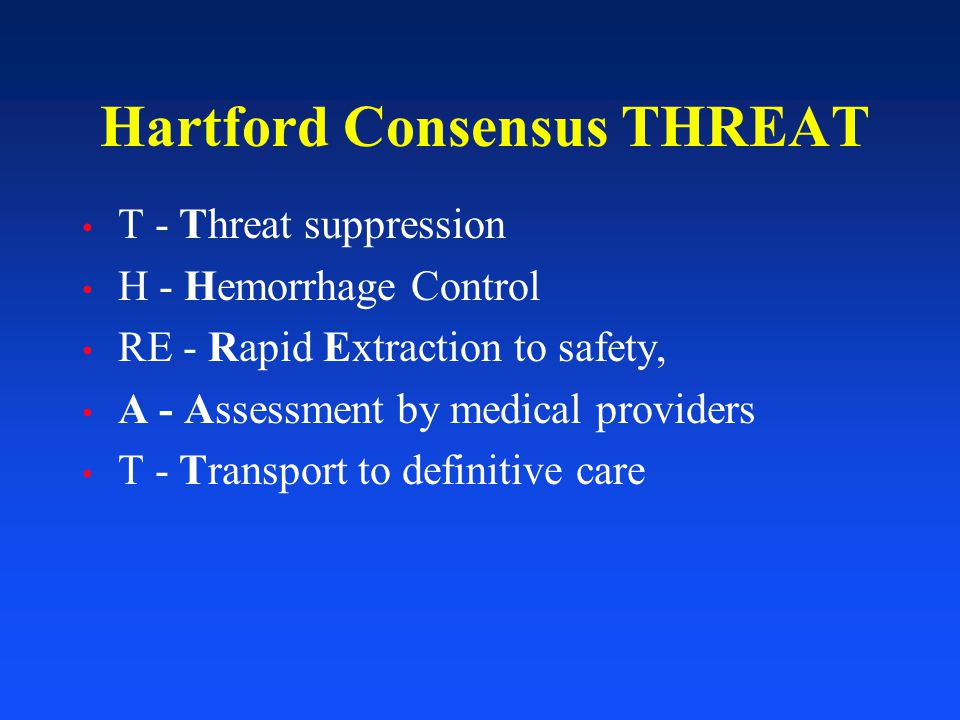 Hartford Consensus THREAT