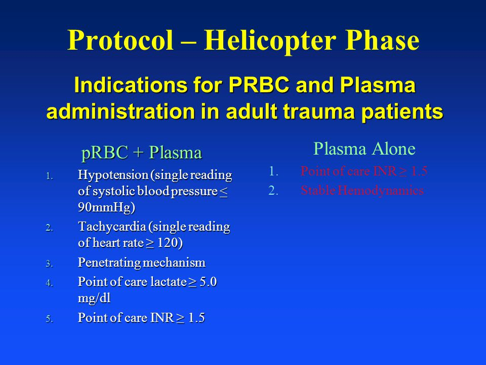 Protocol – Helicopter Phase