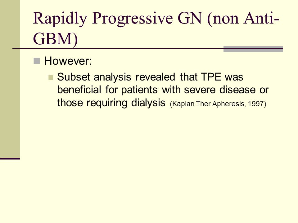 Rapidly Progressive GN (non Anti-GBM)