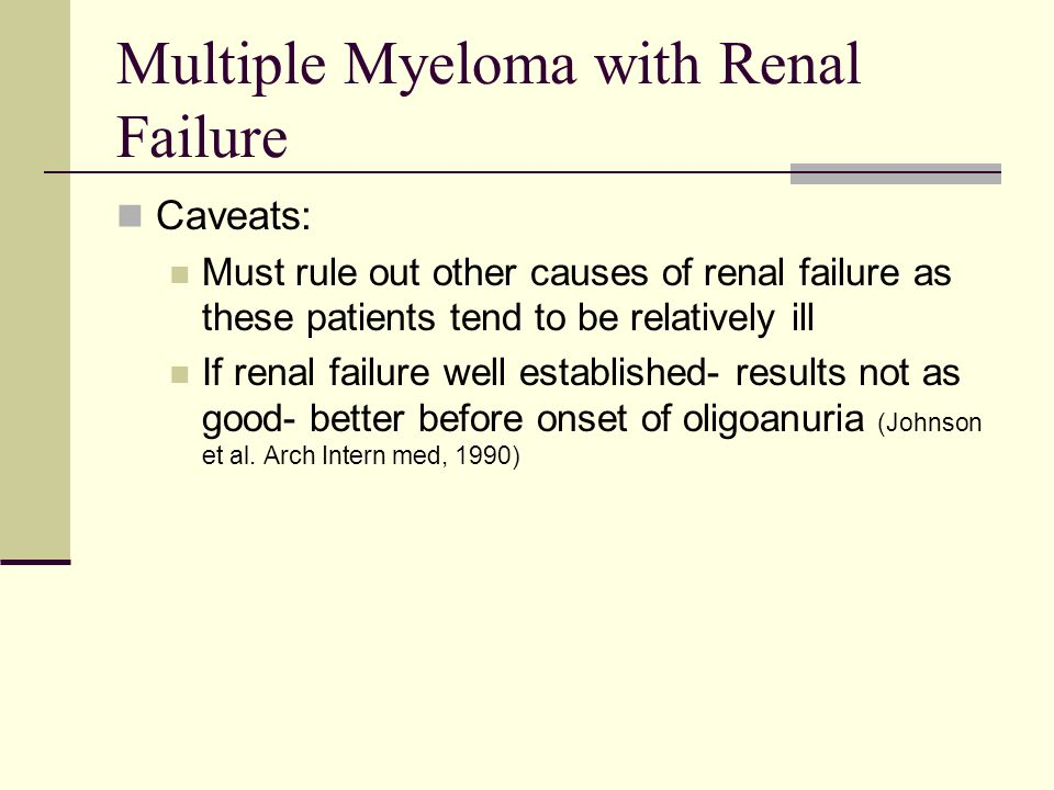 Multiple Myeloma with Renal Failure