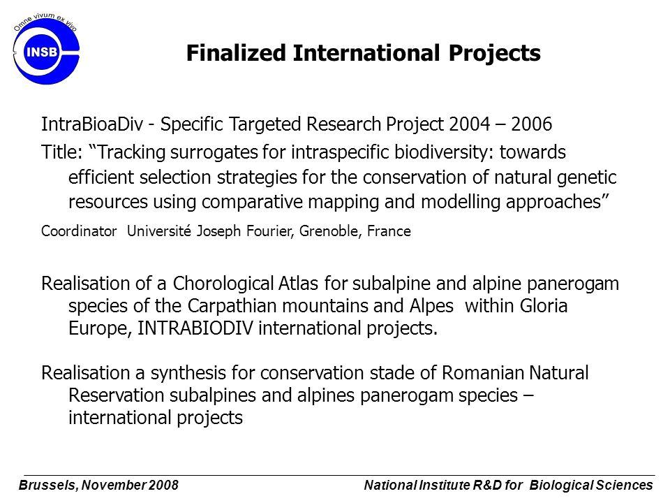 Finalized International Projects