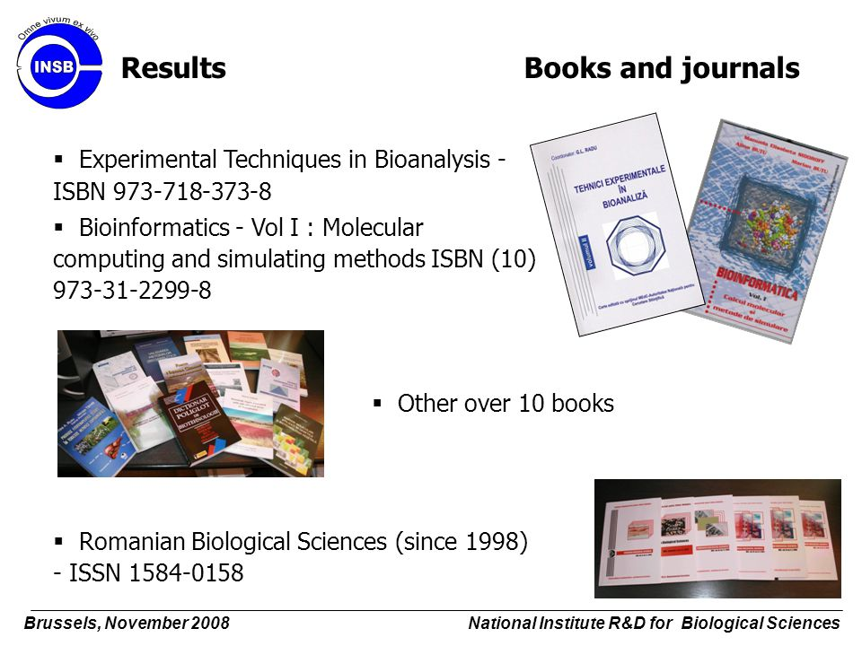 Results Books and journals