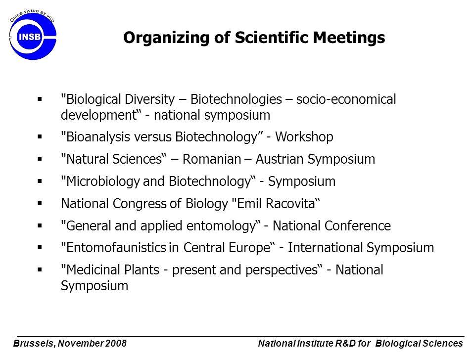 Organizing of Scientific Meetings