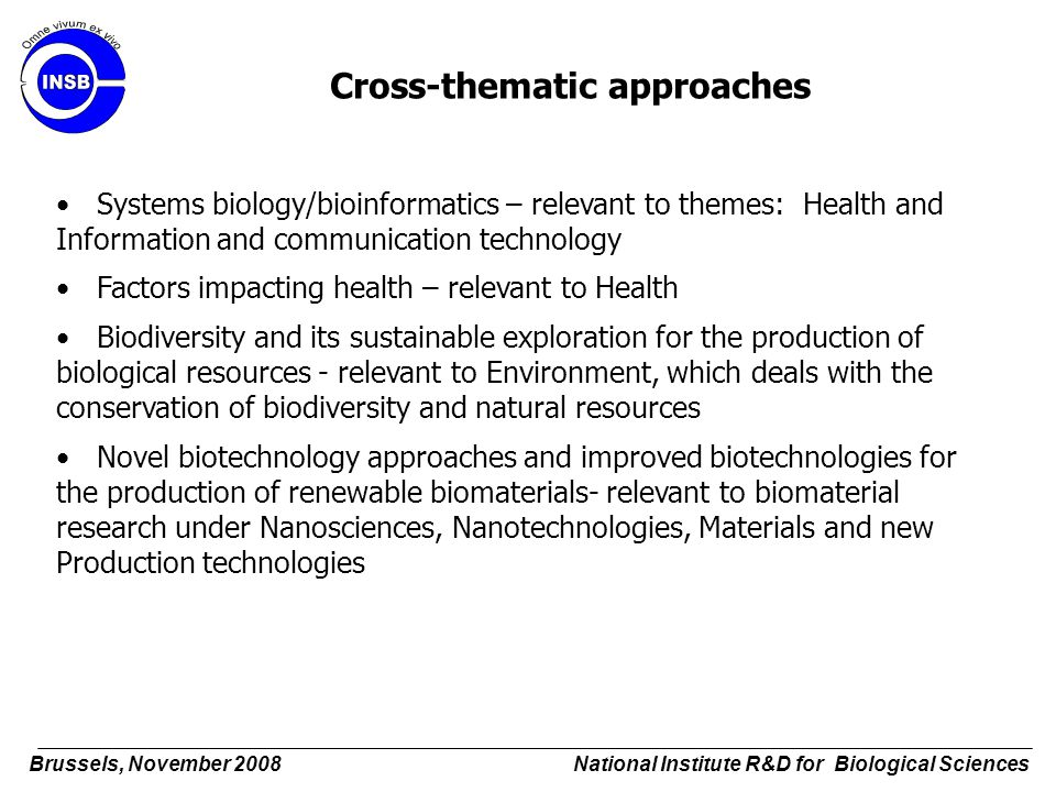 Cross-thematic approaches