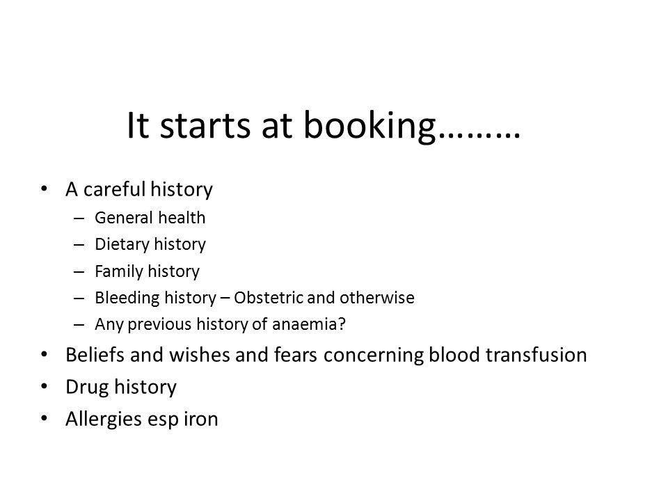It starts at booking………