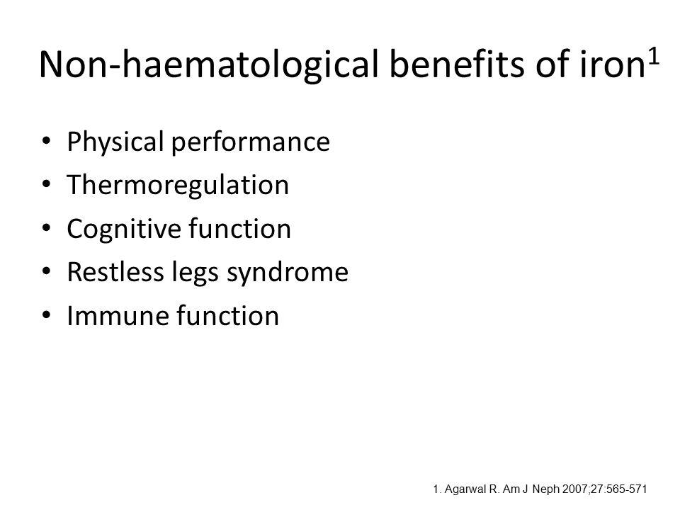 Non-haematological benefits of iron1