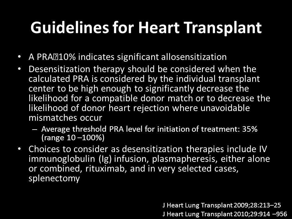 Guidelines for Heart Transplant