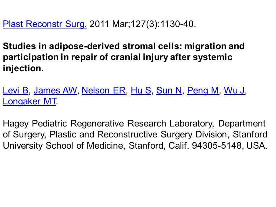 Plast Reconstr Surg. 2011 Mar;127(3):1130-40.