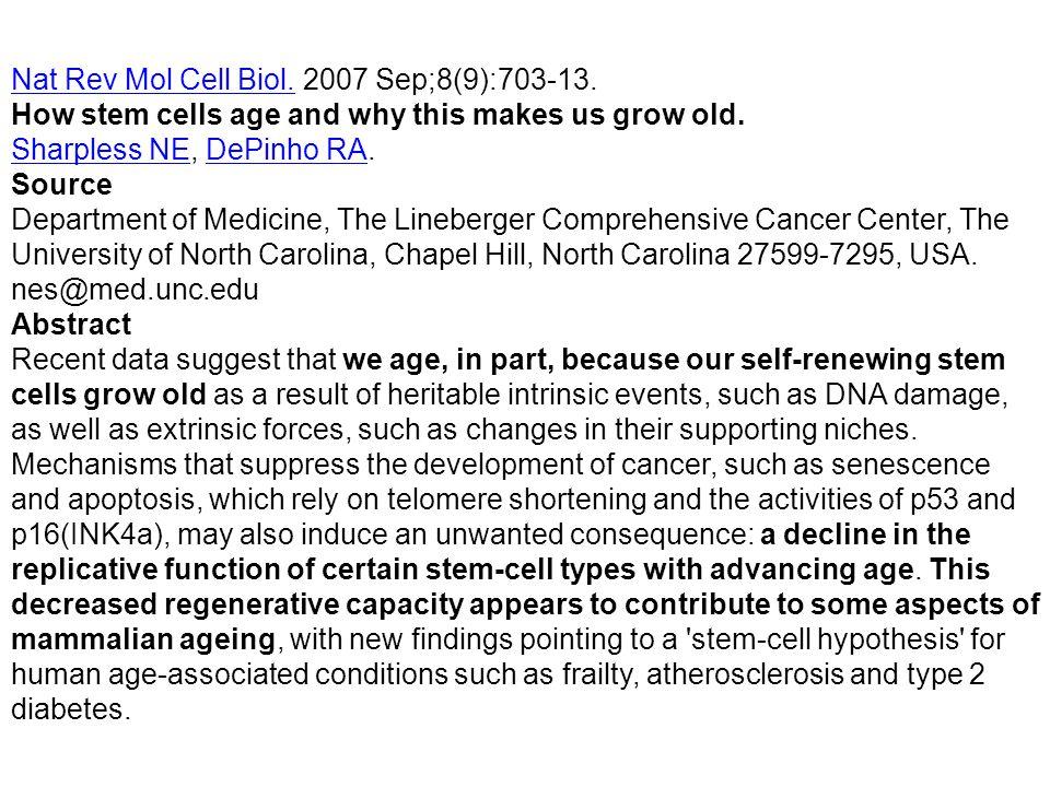 Nat Rev Mol Cell Biol. 2007 Sep;8(9):703-13.