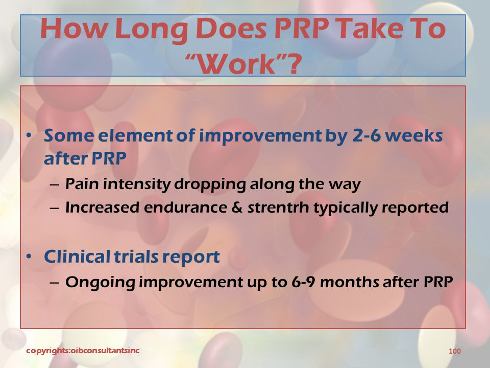 How Long Does PRP Take To Work