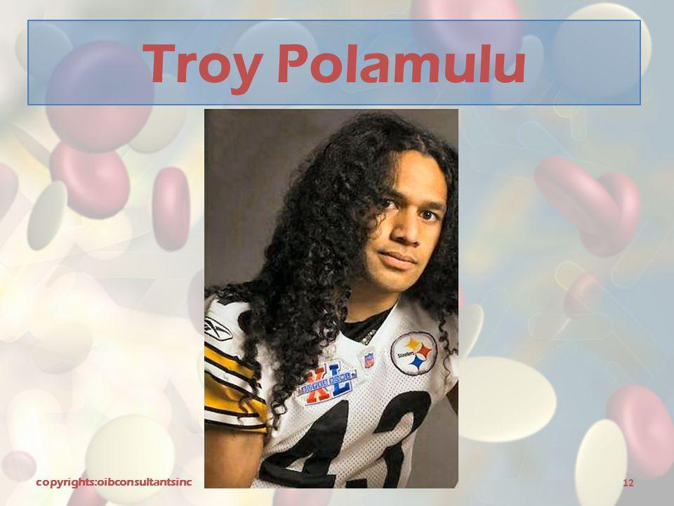 Troy Polamulu copyrights:oibconsultantsinc