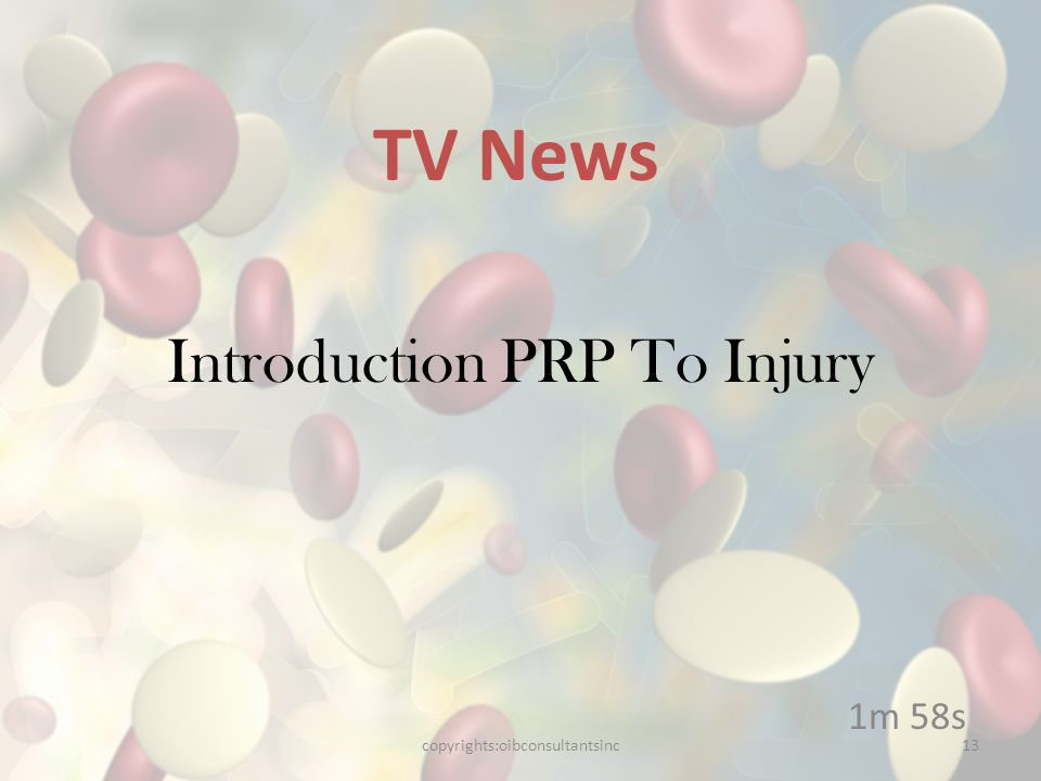 Introduction PRP To Injury