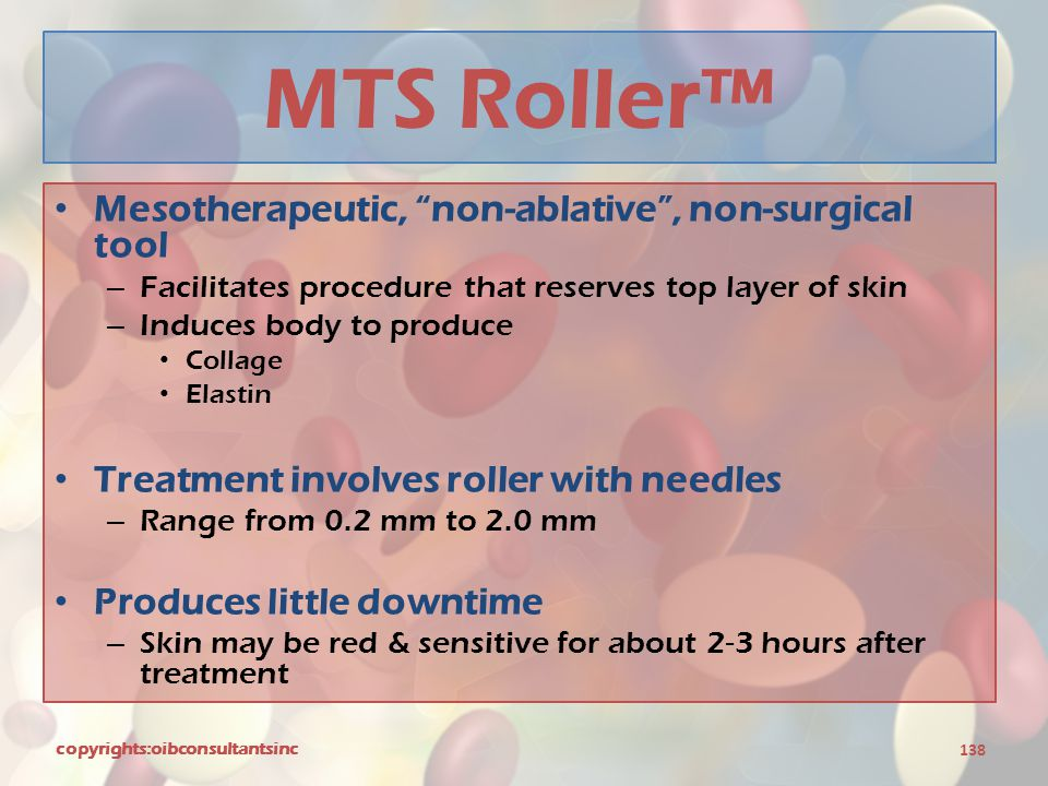 MTS Roller™ Mesotherapeutic, non-ablative , non-surgical tool