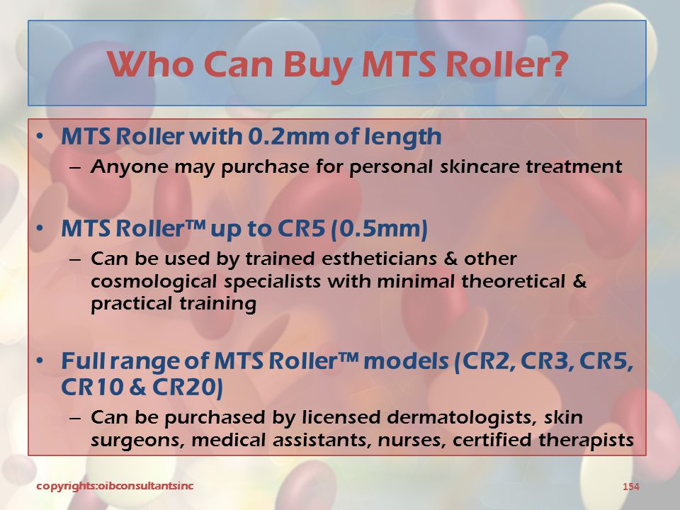 Who Can Buy MTS Roller MTS Roller with 0.2mm of length