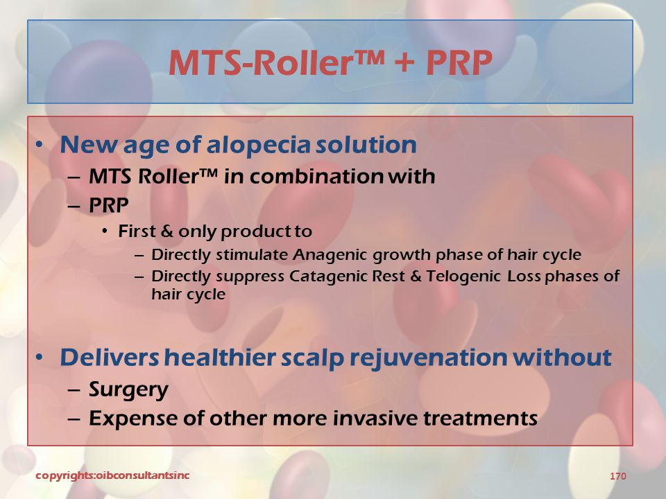 MTS-Roller™ + PRP New age of alopecia solution