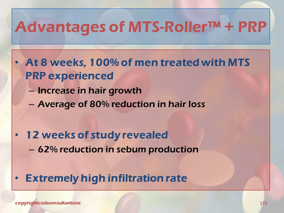Advantages of MTS-Roller™ + PRP
