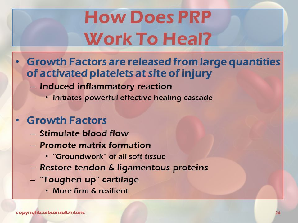 How Does PRP Work To Heal