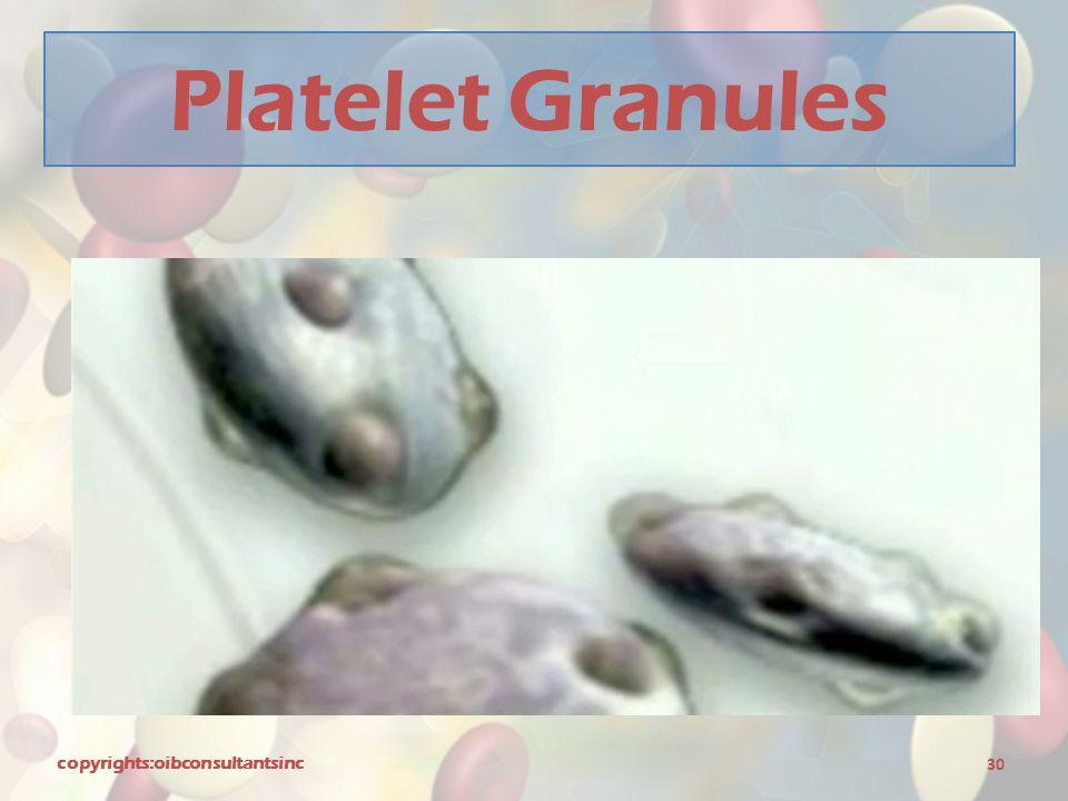 Platelet Granules copyrights:oibconsultantsinc