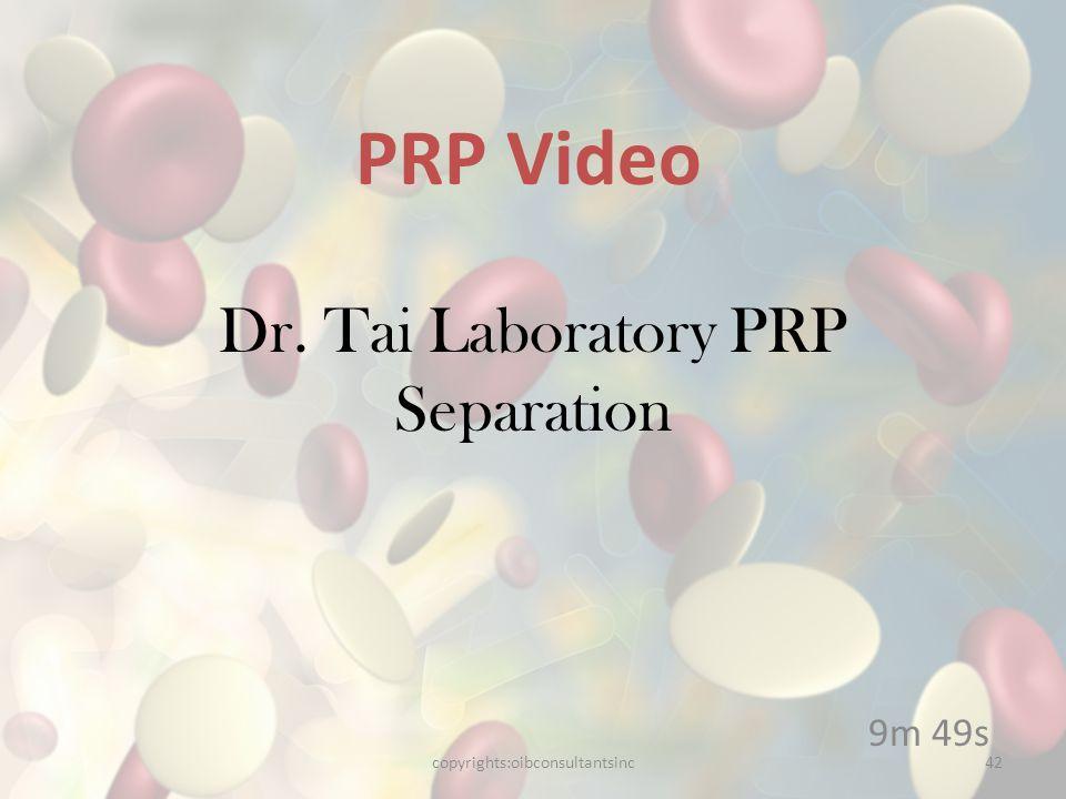 Dr. Tai Laboratory PRP Separation