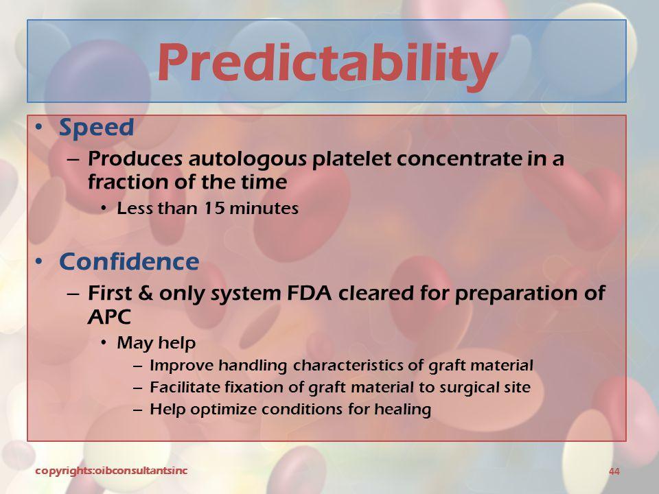 Predictability Speed Confidence