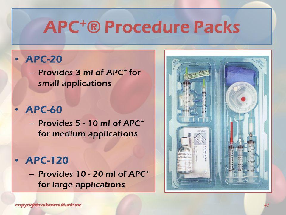 APC+® Procedure Packs APC-20 APC-60 APC-120