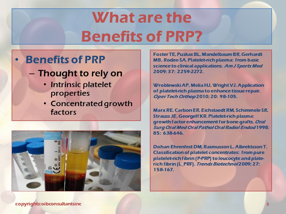 What are the Benefits of PRP
