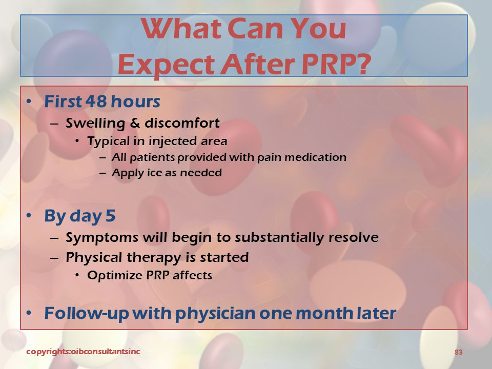 What Can You Expect After PRP