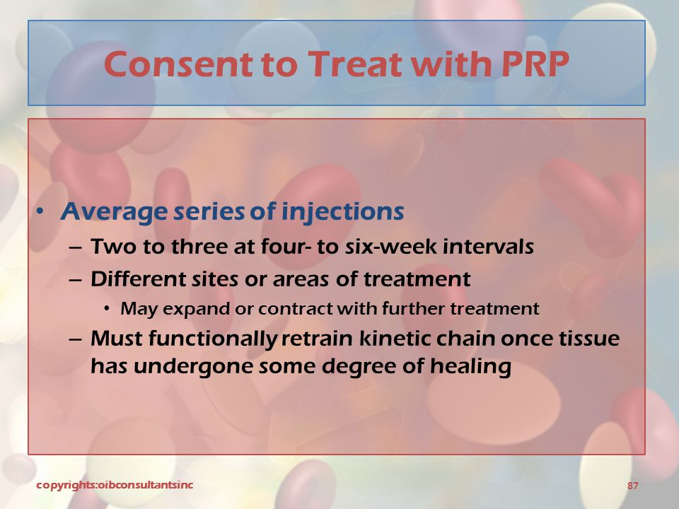 Consent to Treat with PRP